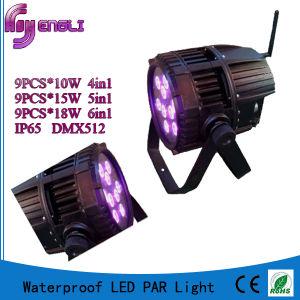 4in1 9PCS LED PAR Light of Battery Stage Lighting (HL-025) pictures & photos