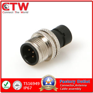 M12 X-Coding Connector Cable Side pictures & photos