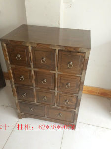 Copper Bordure Drawer Living Room Cabinet