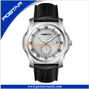 Top Seller Jumping Date Quartz Watch with Genuine Leather Band pictures & photos