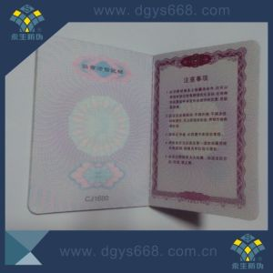 Security Document with Hot Stamping Hologram pictures & photos