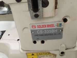 Used Original Golden Wheel Lock Stitch Industrial Sewing Machine (CS-335BH) pictures & photos