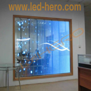 P15.625 Glass LED Display/Advertising LED Screen/Transparent Video Wall pictures & photos