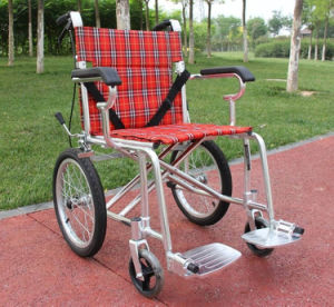 Cheap Manual Aluminum Alloy Frame Wheel Chairs pictures & photos