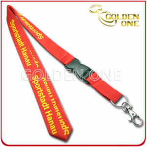 Custom Silk Screen Printed Polyester Lanyard with Plastic Release Buckle pictures & photos