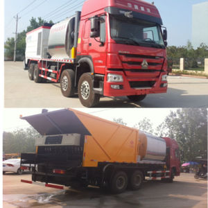 Asphalt Crushed Stone Synchronous Seal Truck pictures & photos