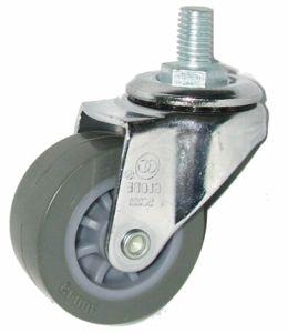 Swivel Wheel Threaded Stem PU Caster Wheel 75mm pictures & photos