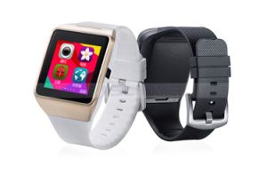 3 Colors Silicone Bluetooth Touch Screen SIM Camera Smart Hand Watch Mobile Phone Cell Phone pictures & photos