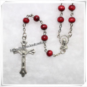 Catholic Wood Beads Rosary (IO-cr044) pictures & photos