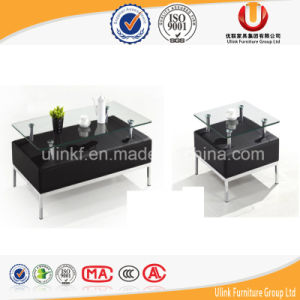 Metal Legs Modern Glass Coffee Table (UL-STB36) pictures & photos
