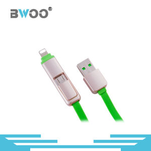 High Quality 2 in 1 USB Data Cable with Lightning Micro Pin pictures & photos