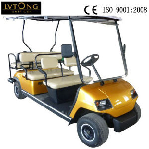 Red 6 Seats Electric Golf Sightseeing Cart (LT-A4+2) pictures & photos