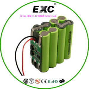 Li-ion 18650 11.1V 2600mAh Battery Pack Exc 9.6V 1100mAh pictures & photos