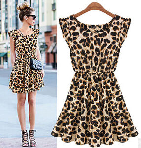 2015 New Fashion Sweet Girl′s Leopard Dresses pictures & photos