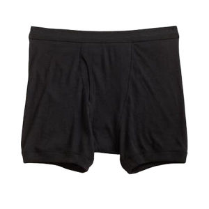 New Style Rib Cotton Leg Opening Boxer Brief Men Underwear pictures & photos