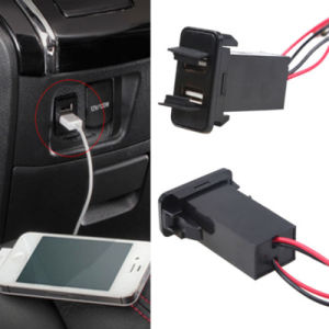 New Dual 5V 2.1A USB Ports Charger for Toyota Car pictures & photos