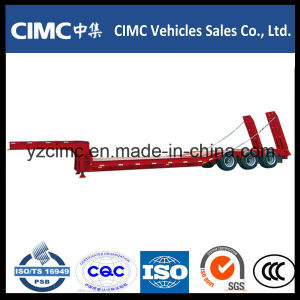 Cimc 2 Axle Low Bed Semi Trailer with Air Suspension pictures & photos