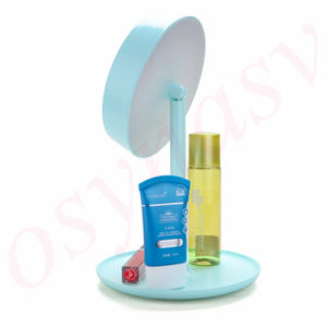2016 New Makeup Mirror Lamp Table Stand Cosmetic Mirror Hight Light Rechargeable Battery Light Mirror pictures & photos
