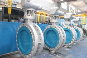 Worm Gear Tripple Eccentric Flanged Butterfly Valve pictures & photos