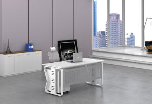 White Customized Metal Steel Office Staff Desk Leg with Ht66-1 pictures & photos