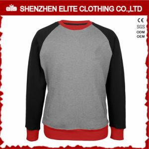 Custom Raglan Sleeve Grey Women Crewneck Sweatshirt with Pockets (ELTSTJ-762) pictures & photos