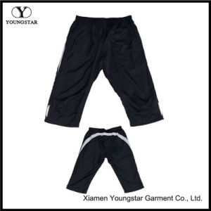 Mens Lined Polyester Exercise Joggers Knee Shorts Half Pants pictures & photos
