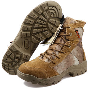 Men′s Special Design Tactical Gears Desert Water-Proof Military Tactical Outdoor Camping Travel Leather Strong Rubber Sole Boot pictures & photos