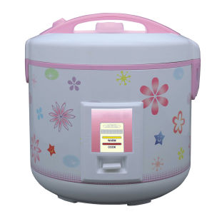 Deluxe Rice Cooker with Flowers Printing Design