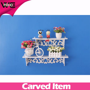 Cheap White Plastic Decorative Wooden Wall Shelving Systems pictures & photos