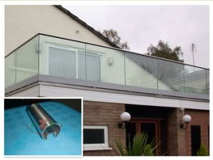 Stainless Steel Handrail with Glass pictures & photos