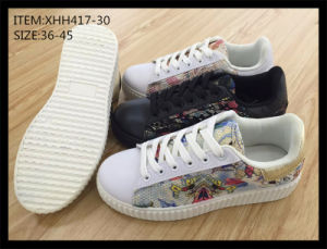 Fashion Injection Canvas Shoes Comfort Shoes Skateboard Shoes (XHH417-30) pictures & photos