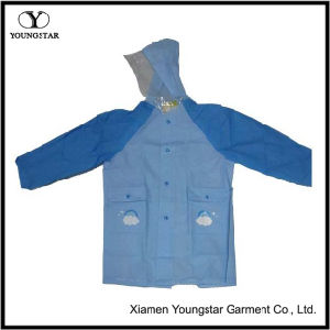 PVC Coating Waterproof Breathable Children Fashion Rain Jacket pictures & photos
