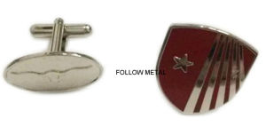 High Quality Enamel Metal Cufflink for Promotional Gift