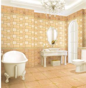 Inkjet Glazed Interior Porcelain Waterproof Wall Tile for Washroom Decoration pictures & photos