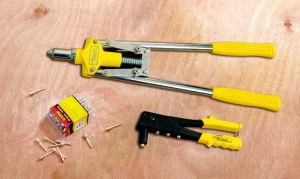 DIY Hand Riveting Tools Double Hand Riveter Gun with Tubular Handle pictures & photos