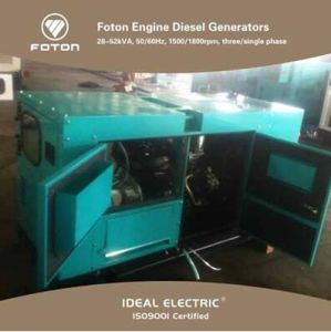 HOWO Foton-Engine Diesel Generators with Adg Brushless Alternators pictures & photos