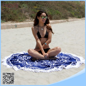China Factory Price Circle Beach Towel 100% Cotton Round Beach Towel pictures & photos