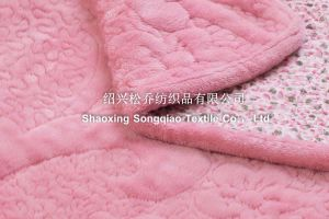 Three in One Embroidered Coral Fleece Blankets - Flower pictures & photos