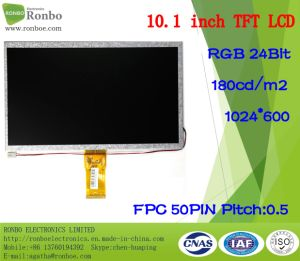 "10.1"" 1024*600 RGB 50pin 180CD/M2 Home Appliance TFT LCD Display pictures & photos"