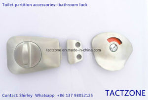 Toilet Partition Accessories Stainless Steel Thumb Turn Door Indicator Lock pictures & photos