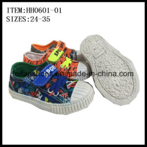 Fashion Children Canvas Injection Shoes Casual Footwear Shoes (HH0601-01) pictures & photos