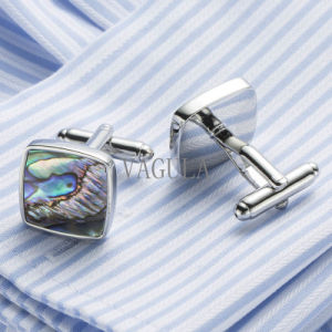 VAGULA Quality Wedding Gemelos Cufflinks Natural Abalone Mother Pearl Cuff Links 390 pictures & photos