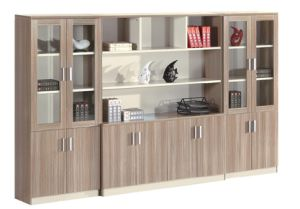 Wooden Shelves Design Office Document Cabinet pictures & photos