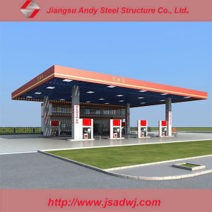 Design Large-Span Galvanized Light Steel Space Frame Gas Station pictures & photos