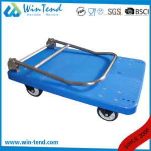 Factory Design Heavy Duty Plastic Foldable Folding Utility Cart pictures & photos