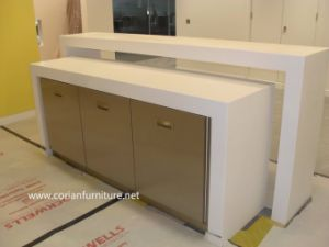 Corian Made Kitchen Cabients High Quality Dining Room Cabinets pictures & photos