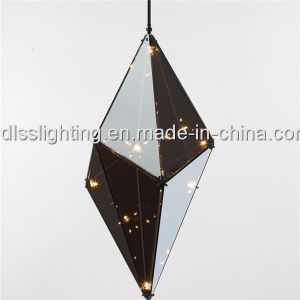 Modern Diamond Glass Chandelier Pendant Light Hotel Polyhedron Hanging Lamp pictures & photos