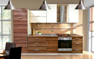 2017 Foshan Customzied MDF Lacquer Finish Kitchen Cabinet Design pictures & photos