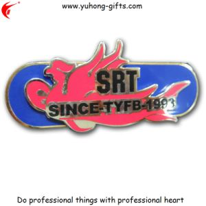 Golden Plating Crystal Metal Badge (YH-MP057) pictures & photos