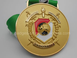Engraved Gold Metal Medal, 3D Marathon Medal (GZHY-MEDAL-028) pictures & photos